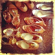 Golden #shoes for @sinderella 's #bridesmaids