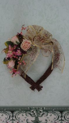 Springtime Heart Shaped Grapevine Wreath by cardinalcouple on Etsy, $22.00