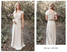 Bridesmaid dresses New Zealand - Relaxed style, two piece, silk, soft muted colours:  Light grey, charcoal, dusty rose & navy #CampionCouture  View collection at http://www.carolinecampion.com/collection/bridesmaid-15/