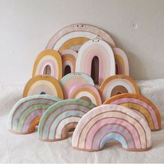 Coming Soon at Darling Clementine Diy For Kids, Crafts For Kids, Arts And Crafts, Diy Clay, Clay Crafts, Ceramic Clay, Ceramic Pottery, Rainbow Diy, Rainbow Pastel