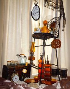 """Linda's Amber Time Chair Autobiographical Still Life With Chair """"The Seat Of Your Reason"""""""