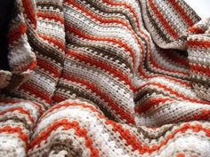 Fall striped afghan (pattern) on Crochet n Crafts blog