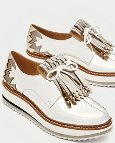SILVER PLATFORM BROGUES WITH FRINGE-View all-SHOES-WOMAN  3adc0495bc5