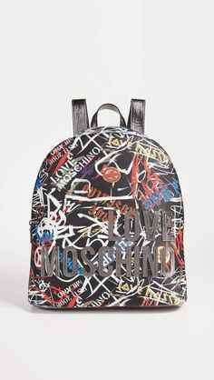 6d17b6f6357 Moschino Love Graffiti Backpack Stylish Backpacks