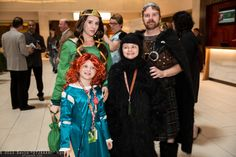Merida, Queen Elinor, Bear, and King Fergus #Family #Cosplay - Brave | D*Con13 (Sun.)