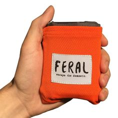 FERAL Lightweight Travel Pocket Blanket - For Backpacking, Music Festivals, Concerts, Hiking, Camping, Hunting - Blaze Orange * Want to know more, click on the image.