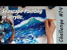 HOW TO paint water 🌊 (STEP BY STEP) - Acrylic painting for beginners | 2020 Art Challenge #14 - YouTube Acrylic Painting For Beginners, Seascape Paintings, Art Challenge, Challenges, Drawings, Water, Artwork, Youtube, Design