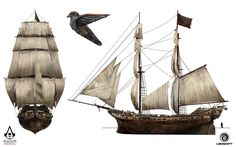 ArtStation - Assassin's Creed IV: Black Flag - Jackdaw and The Rouge design, TEO YONG JIN