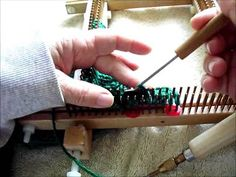 Braided cable on a small gauge KISS loom