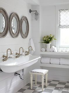 Hydrangea Hill Cottage: A Sophisticated Child's Bath