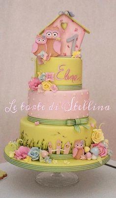 Owl cake - Cake by graziastellina