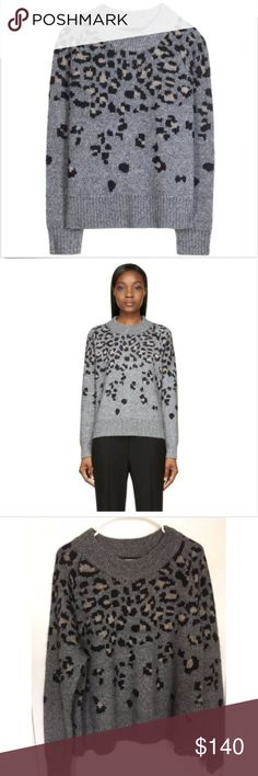 Rag & Bone Isadora Leopard Sweater Rag & Bone Isadora Leopard print sweater. Super soft - wide hem, long raglan sleeves. Boxy, oversized fit.  45% wool/37% poyamide/9% alpaca/9% mohair. rag & bone Sweaters Crew & Scoop Necks
