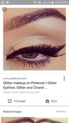 Eyeliner and glitter