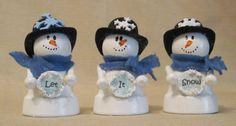 Clay Pot Snowman Craft | Clay Pot Snowman Trio | Christmas - Crafts