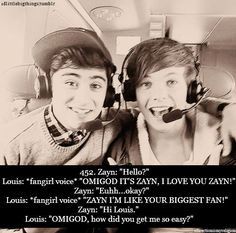 """:) This is when Louis prank called Zayn on twitcam<3 """"Louis, just so ya know Zayn has caller ID<3""""  Haha"""