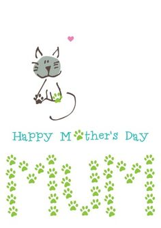 print mother day card