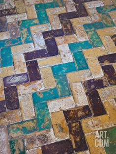 Moorish Tiles, the Alcazar, Seville, Spain Photographic Print by Walter Bibikow at Art.com Cool wall art.