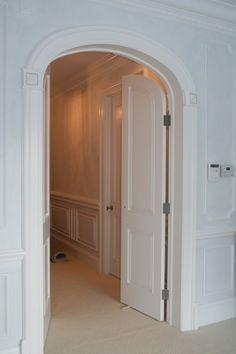 Custom Interior French Door Beautiful Creamy White Elliptical Opening Buffalo Ny Quaker Millwork