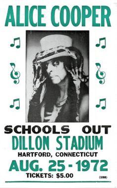 Alice Cooper (Schools Out, Dillon Stadium Concert) Music Poster