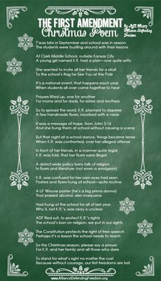 1st amendment poem (twas the night before Christmas)