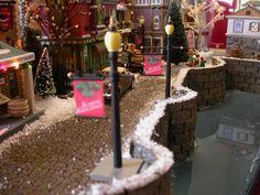 Showcase Displays - builds custom displays for miniature villages Department 56 Christmas Village, Christmas Tree Village, Christmas In The City, Halloween Village, Christmas Town, Christmas Villages, Beautiful Christmas, Christmas Holidays, Christmas Decorations