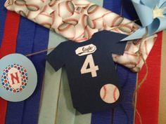 Baseball baby shower banner