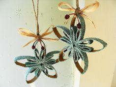 Christmas Ornament, Snowflake Ornament, Tree Ornament, Tree Decoration, Aqua, Mint, Table Decoration