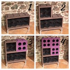 How our Combi Totalwine bottle rack is made of? From 4 bottle holder, with a maximum capacity of 24 bottles, can be assembled by hand in a few steps, it is possible to compose multiple configurations. Available in one color, or two colors.