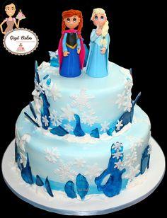 Bolo Anna e Elsa - Frozen
