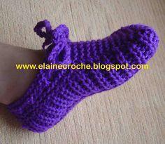 elaine croche vídeo pantufa para adulto de trico ou de croche bem facil…