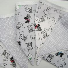 Product   Scottie Bunting (Grey & White)   Henry, Oscar and Me Scottie, Handmade Crafts, Bunting, Grey And White, Beautiful, Home Decor, Scottie Dog, Garlands, Decoration Home