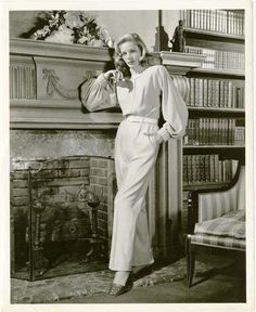 Promotional picture for The Big Sleep, which she starred in with her husband, Humphrey Bogart, 1946.