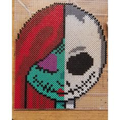 Sally and Jake perler beads by the_nerdy_girl_crafter - Pattern… Perler Bead Designs, Perler Bead Templates, Diy Perler Beads, Perler Bead Art, Melty Bead Patterns, Pearler Bead Patterns, Perler Patterns, Beading Patterns, Christmas Perler Beads