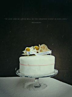 """snow cake avec """"Aimer et être aimé sera la grande affaire de toute notre vie"""""""