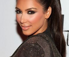 Celebrity Makeup:  Get The Look - Kim Kardashian's Gunmetal Smokey Eyes...