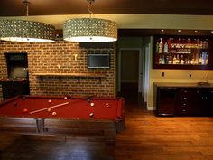 You stay classy, basement game room. .  Hmm.  Maybe the game room should be more adult oriented. Kids will still like it