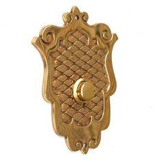 Antique Shield Push Button Doorbell Cover Plate Buzzer Door Bell Electric Vtg | eBay Doorbell Cover, Buzzers, Doorbells, Door Knobs, Electric, Design Ideas, Hardware, Doors, Plates