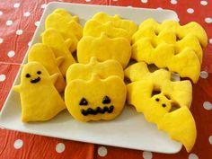 ハロウィンに♪サクサク!かぼちゃクッキーの画像