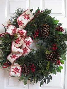 Christmas Evergreen Wreath Fall Wreath Winter Wreath