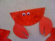 All information about Paper Plate Crab Template. Pictures of Paper Plate Crab Template and many more. Preschool Projects, Daycare Crafts, Classroom Crafts, Preschool Crafts, Craft Projects, Craft Ideas, Classroom Ideas, Under The Sea Crafts, Under The Sea Theme
