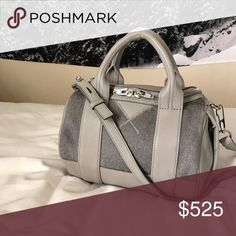 NWT/$1200 Alexander Wang Gray Haircalf Rockie Bag - Alexander Wang Rockie in Gray Haircalf  - Retail $1200 (rare color!) - New with defects (color transfer on one side, scuffs on front, bottom and shoulder strap, otherwise pristine condition - Includes tag and dust bag -Feel free to ask questions! Alexander Wang Bags Satchels