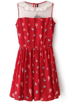Shop the affordable Red Sleeveless Balloons Print Chiffon Pleated Dress from Dresses collection that inspired by most covetable trends. Save your budget by purchasing your Red Sleeveless Balloons Print Chiffon Pleated Dress here! Balloon Dress, Red Balloon, Look Fashion, Womens Fashion, Cheap Fashion, Peter Pan Collar Dress, Latest Street Fashion, Print Chiffon, Look Chic