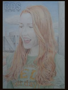 Isabelle K. Special thanks to: http://www.flickr.com/photos/e3000/ Redhead, portrait, drawing www.rds-art.weebly.com #redhead #ginger #drawing #pencil