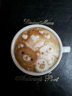 Rilakkuma coffee. Sometimes I wish I liked the taste of coffee, just so I could cute little cups of like this!! :-D