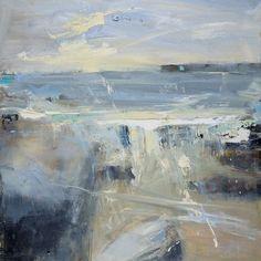 Hannah Woodman, 'Sennen beach, Sunny June' 2014 Oil on board Abstract Landscape Painting, Seascape Paintings, Landscape Art, Landscape Paintings, Abstract Art, Sea Art, Coastal Art, Contemporary Landscape, Painting Inspiration