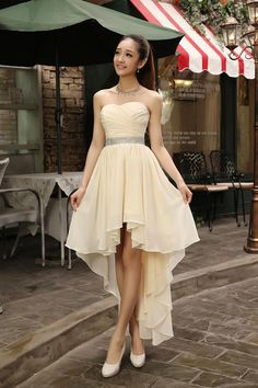 High Low Sweetheart Beaded Bridesmaid Dress Plus Size 2019 Chiffon Party Dress  Short Front Long Back Childs Bridesmaid Dresses Cocktail Bridesmaid Dresses  ... 2e7ce3913e67