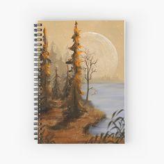 Notebook Design, My Notebook, T Art, Jenni, Full Moon, Top Artists, Spiral, Art Prints, Landscape