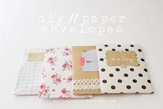 Diy packaging // paper envelopes