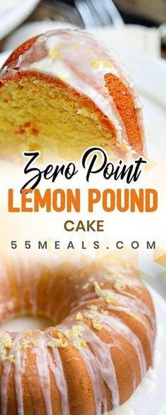 New Easy Cake : Weight Watchers Freestyle Lemon Pound Cake Recipe - 0 Points, Weight Watcher Desserts, Weight Watchers Snacks, Weight Watchers Kuchen, Weight Watchers Cupcakes, Weight Watchers Brownies, Healthy Recipes, Skinny Recipes, Ww Recipes, Healthy Snacks