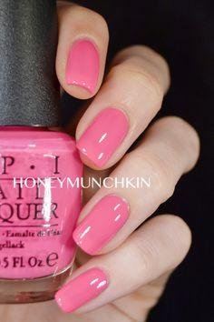 Swatch of OPI – Elephantastic Pink - honeymunchkin